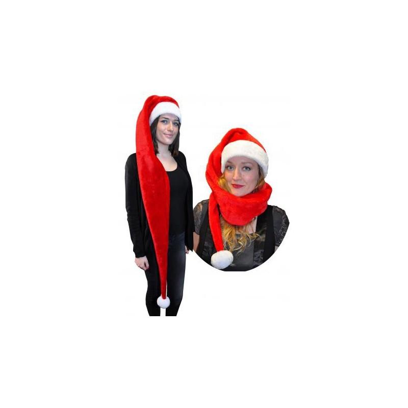 Bonnet de Noël Long 1,50 Mètre en Peluche
