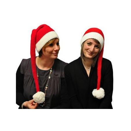 Bonnet de Noël Tricot Avec Pompon