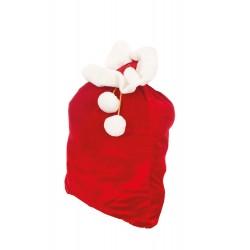 Hotte de Père Noel en Velours