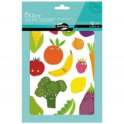 Planches de Gommettes Les Fruits et Légumes - Maildor