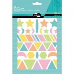 Planches de Gommettes Géométrique Pastel - Maildor