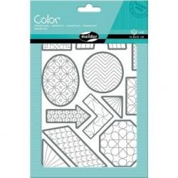 Planches de Gommettes à Colorier, Formes Géométriques - Maildor