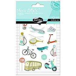Planche de Stickers, Mini Stick Les Transports - Maildor