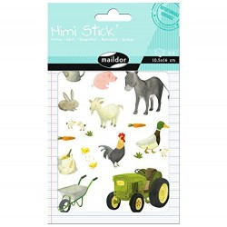 Planche de Stickers, Mini Stick La Ferme - Maildor