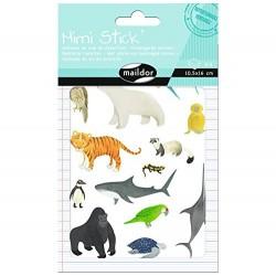 Planche de Stickers, Mini Stick Les Animaux Sauvages - Maildor
