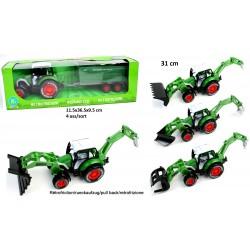 Tracteur avec Outils 31cm Métal et ABS Roues Libres