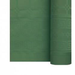 Nappe En Papier Damassé Vert Sapin En Rouleau 1,18 x 25 m