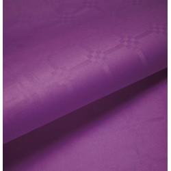 Nappe En Papier Damassé Violet En Rouleau 1,18 x 25 m