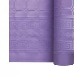 Nappe En Papier Damassé Bleu Turquoise En Rouleau 1,18 x 25 m