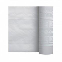 Nappe En Papier Damassé Blanc En Rouleau 1,18 x 10 m