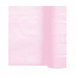 Nappe En Papier Damassé Rose En Rouleau 1,18 x 25 m
