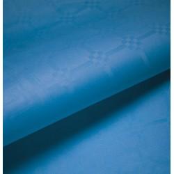 Nappe En Papier Damassé Bleu Lagon En Rouleau 1,18 x 25 m