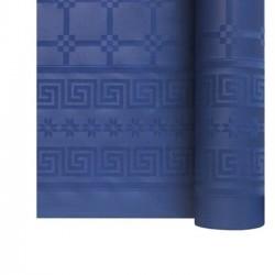 Nappe En Papier Damassé Bleu Foncé En Rouleau 1,18 x 6 m