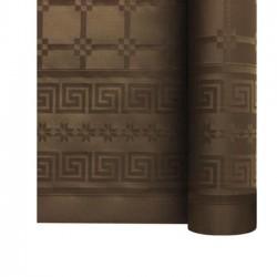 Nappe En Papier Damassé Chocolat En Rouleau 1,18 x 6 m