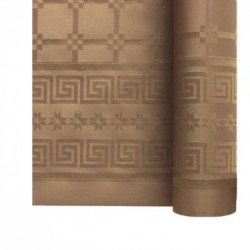 Nappe En Papier Damassé Argile En Rouleau 1,18 x 6 m