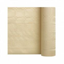 Nappe En Papier Damassé Ivoire En Rouleau 1,18 x 6 m