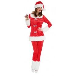 Costume de Mère Noël en Velours 3 pièces Taille 40