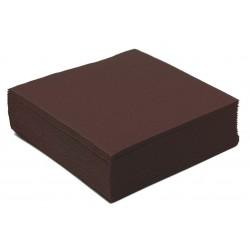Serviette en Papier Cocktail Unie Chocolat