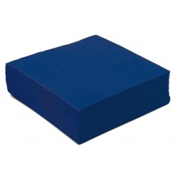 Serviette en Papier Cocktail Unie Bleu Vif