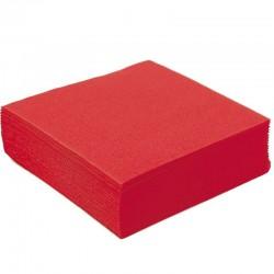 Serviette en Papier Unie Rouge