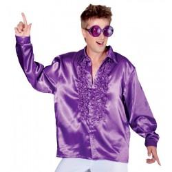 Déguisement Chemise Disco Violette, Taille M