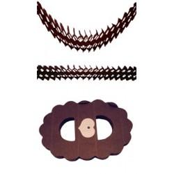Guirlande Zinnia Chocolat Papier Ignifugé 4,50 Mètres