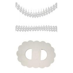 Guirlande Zinnia Blanc Papier Ignifugé 4,50 Mètres