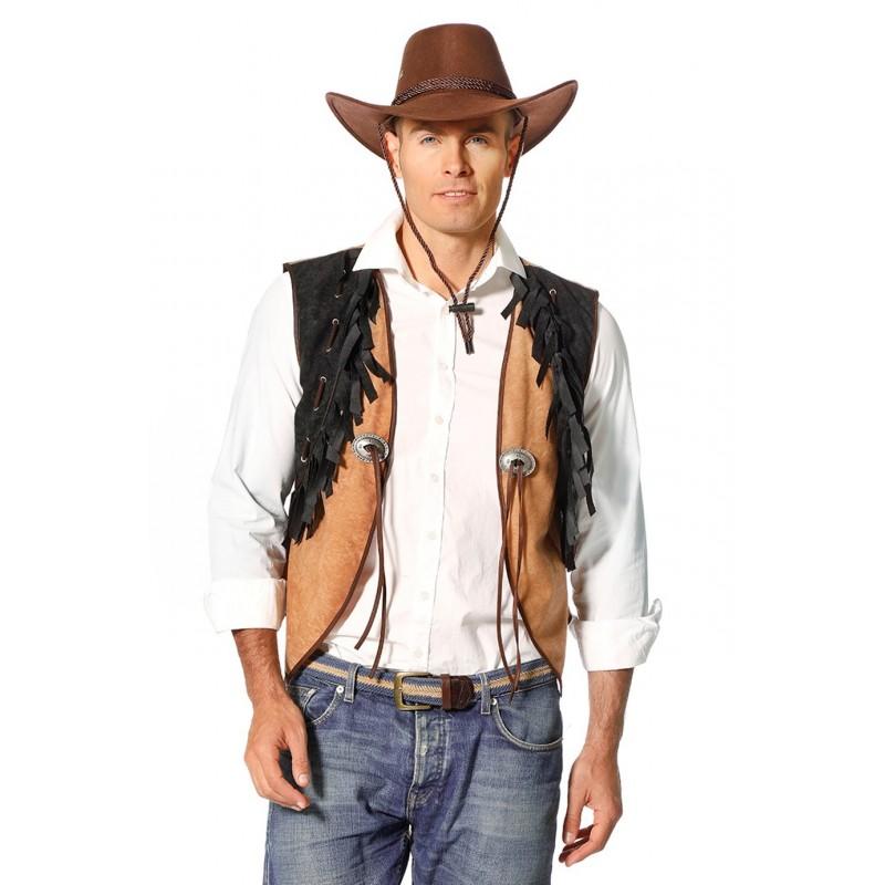 fb1bd34b1e7 Gilet Cowboy Western Pour Homme - Coti-Jouets Kermesse