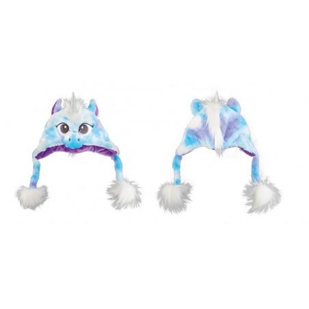 Bonnet Peluche Licorne Bleu