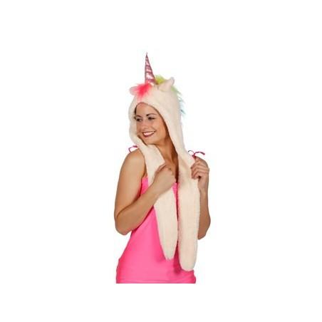 Bonnet Chapka Licorne avec écharpe