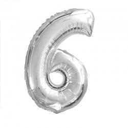 Ballon Chiffre Métallique 6