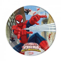 Assiettes Jetables Spiderman