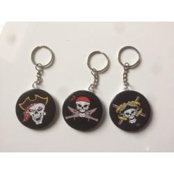 Porte Clés Badge Pirate