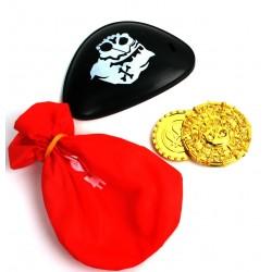 Cache Oeil de Pirate avec Accessoires