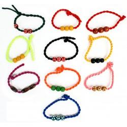 Bracelet Ajustable avec Perles en Bois