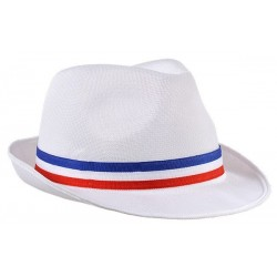 Chapeau Borsalino Blanc avec Bandeau France