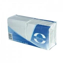 Serviettes en Papier Blanches 1 Pli - 500 Pièces