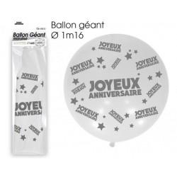 Ballon de Baudruche Géant Joyeux Anniversaire Blanc
