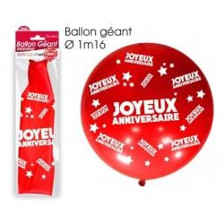 Ballon de Baudruche Géant Joyeux Anniversaire Rouge