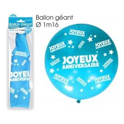 Ballon de Baudruche Géant Joyeux Anniversaire Bleu