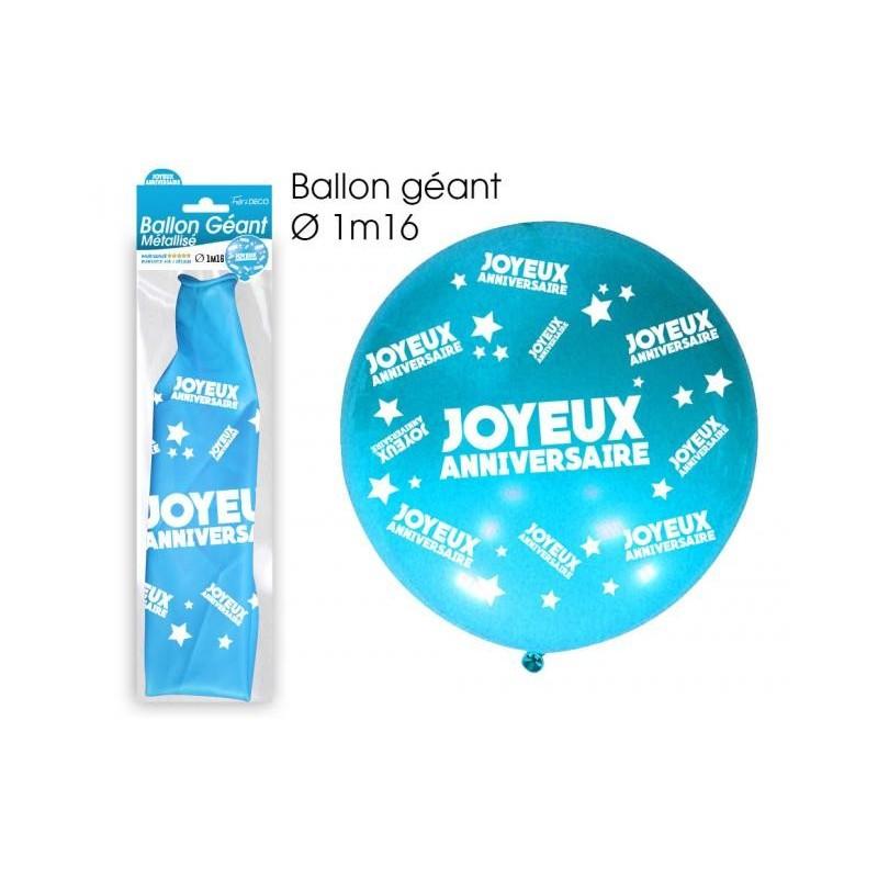 Ballon Géant Anniversaire Bleu Coti Jouets Spécialiste En Articles De Fêtes Pour Vos Mariages Anniversaires Soirées à Thème