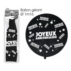 Ballon de Baudruche Géant Joyeux Anniversaire Noir