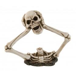 Décoration Tête de Squelette Arrachée En Résine