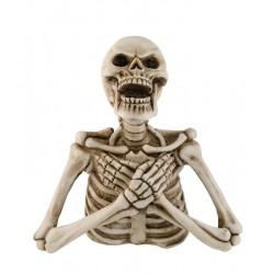 Décoration Buste de Squelette En Résine