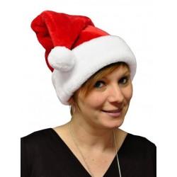 Bonnet de Noël en Peluche Epaisse