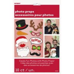 Kit Photobooth Noël 10 Pièces