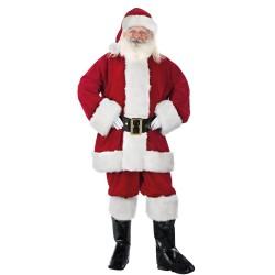 Costume de Père Noël Américain en Velours Haute Qualité