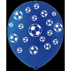 Ballons De Baudruche Ballons de Foot Assortis Bleu Blanc Rouge 6 Pièces