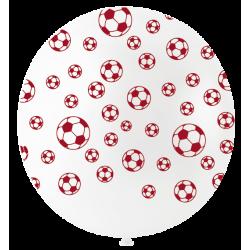 Ballon de Baudruche Géant Blanc Impression Ballon de Foot