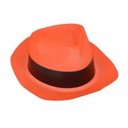 Chapeau Borsalino Gangster Fluo Orange
